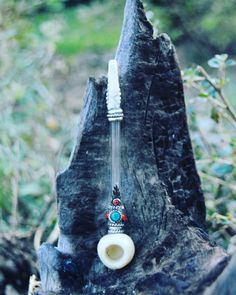 Small One Hitter Stone Glass Peace Pipe by BlackSheepMovement