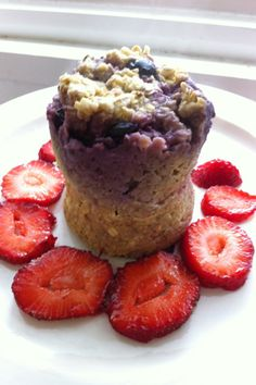 This blows my mind!: Microwave Minute Muffin.  Mix 1/4 cup quick oats, 1 egg, handful blueberries, sprinkle of brown sugar, and 1 tbsp soy or almond milk in a mug, and microwave for 1 min (+30 sec if not firm).
