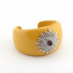 Contemporary Yellow Burst Cuff Jewelry Dreamer. $30.38