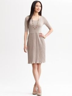 Amazon.com: Banana Republic Pleated Knit Dress: Clothing