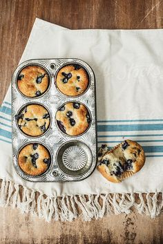 Blueberry Muffins; Lulu's favourite thing to bake. She loves the smell of freshly cooked muffins and black coffee drifting through her Paris apartment. #inspirationrx