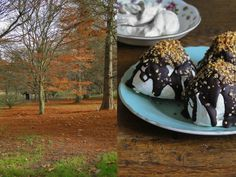 chocolate meringue kisses & chestnut whipped cream
