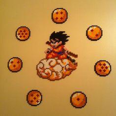 Dragon Ball wall decor Hama beads by Cristina Merino -  MerinosCrafts