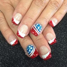 Instagram media by mznguy3n - memorial day / july 4th #nail #nails #nailart