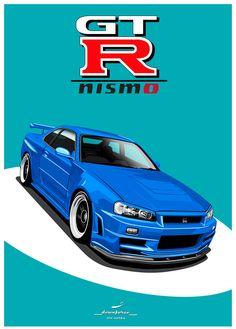 Skyline Gtr R34, Nissan Skyline, Jdm Wallpaper, Japan Cars, Nissan Gt, Car Posters, Retro Logos, Jdm Cars, Classic Cars