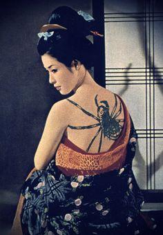 "f-l-e-u-r-d-e-l-y-s:  Ayako Wakao in the movie ""Tatouage"". (Irezumi) realised by Yasuzô Masumura 1966 Ayako Wakao: icone & fatal woman of japanese cinéma"