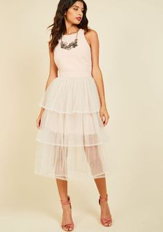 #AdoreWe #ModCloth Dress - ModCloth Tulle Me Everything Midi Dress - AdoreWe.com