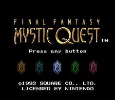 Final Fantasy - Mystic Quest ROM Download for Super Nintendo / SNES - CoolROM.com