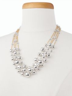 Bead Station Necklace - Talbots