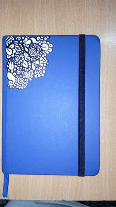 A simple diary revamped with a permanent marker and some whitener...