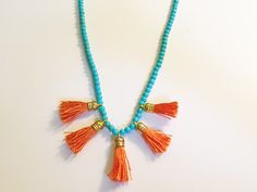 Lila & Sirena: DIY | Beads and Tassels Necklace