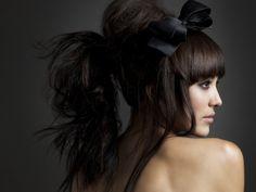 big ribbon and hair