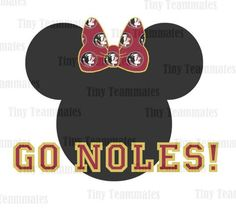 Florida+State+Seminoles+Minnie+Inspired+Bow++by+TinyTeammates,+$5.00