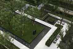 Longfor · Forest – Residential Landscape of Singaporean Style by JTL Studio – mooool Landscape Stairs, Landscape Borders, Landscape Elements, Landscape Architecture Design, Contemporary Landscape, Urban Landscape, Atrium Design, Pond Design, Modern Landscaping