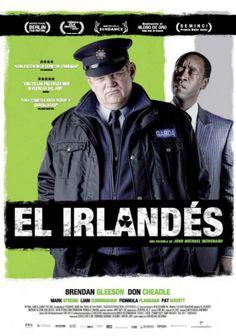 El irlandés. 2011. Dir. John Michael McDonagh. Gerry Boyle es un excéntrico, grosero y subversivo policía irlandés obligado por sus superiores a colaborar con un más que aburrido agente del FBI para detener a un grupo de traficantes de drogas que están amenazando la tranquilidad del condado de Galway. En #BibUpo  http://athenea.upo.es/record=b1574672