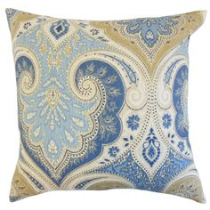 Declan Pillow in Delta For blue/yellow guest BR.