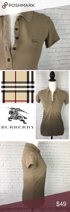 Burberry Ombré Polo Shirt Beau polo shirt with ombré color from Burberry. Size XS. Excellent condition. Approx 2 long and 17 across the chest when laying flat. Burberry Tops