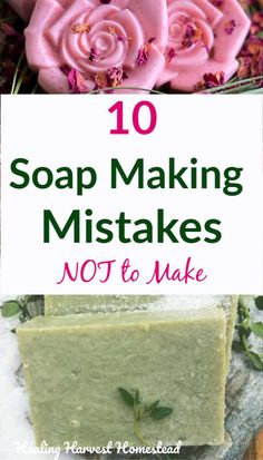 10 Soap Making Mistakes to Avoid Here are ten common mistakes people make when making handmade soaps. Find out what errors to avoid when you want to make handmade soaps! If your soap isn't working out, here's what may be happening. Homemade Soap Bars, Homemade Soap Recipes, Happiness Is Homemade, Jelly Soap, Aloe Vera, Oatmeal Soap, Soap Tutorial, Honey Soap, Soap Making Supplies