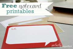 Free Printable Notecards & rediscovering a lost art | perfectly imperfect
