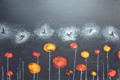 Flock - acrylic on canvas by Catherine Pang-Murray Brick Lane, Dumpling, Flocking, Illustrations, Watercolor, Canvas, Gallery, Painting, Design