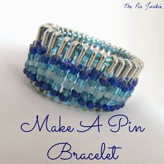 How to make a beaded pin bracelet - step by step tutorial.