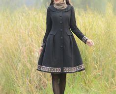 Lange Mäntel - trench coat vintage retro mantel manteau manto - ein Designerstück von Regenbogen-Fashion bei DaWanda                                                                                                                                                                                 Mehr