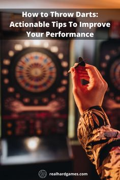 You have to know how to aim darts and how to throw darts in order to gain that control. More importantly, you have to know when to control and when to let go of control to get the best results. Play Darts, Darts Game, Dart Board Backboard, Dart Board Games, Best Darts, Throwing Games, When To Let Go, Air Hockey, Letting Go