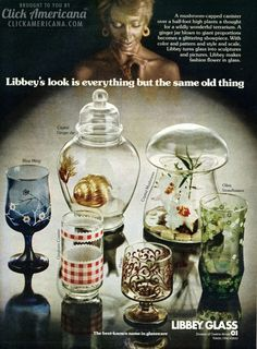 Libbey glass designs from the seventies