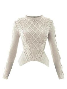 Sculpted Cable-knit Sweater - Lyst