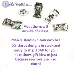 Load up on clasps for the busy season!  www.mobile-boutique.com