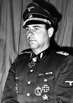 Waffen SS Brigdeführer Fritz Witt-NSDAP #816,769/SS #21,518-Commands 12th SS Panzer Division Hitlerjugend-7/1/1943,Witt promoted SS-Oberführer,& officially given command of the Hitlerjugend division-This unique Waffen SS Panzer Division was organized oddly, with mostly Hitlerjugend and 1st SS Panzer vets from the eastern front as well the Wehrmacht supplied the Division 50 officers on a permanent basis who still wore their Army uniforms but were officers and served in the 12th SS Panzer Divi... Fritz Witt, Division, Grand Chef, Killed In Action, Military Officer, Army Uniform, German Army, Panzer, Luftwaffe