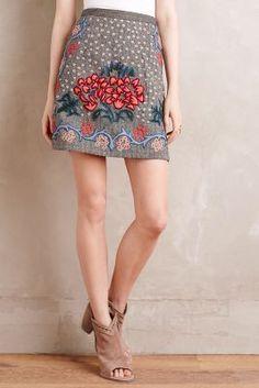 6e79ed7bcbd3 at anthropologie Embroidered Wool Mini Skirt