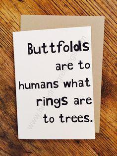 Card #152:  Buttfolds ...