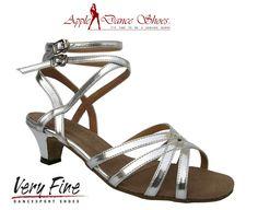 Women/'s West Coast Swing Salsa Ballroom Dance Shoes low Heel 1.3 Very Fine 5008