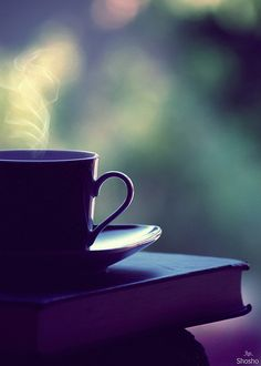 *a cup of coffee and a good book