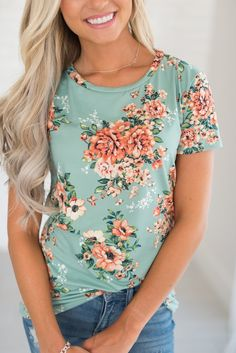 Poppy Tee - Mint. Cute and girly.