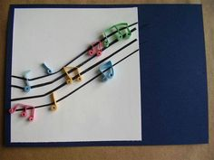 Cartao notas musicais