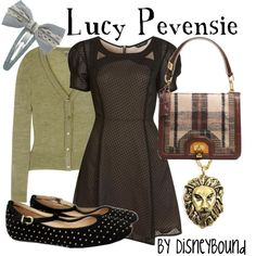 Lucy Pevensie, created by lalakay. I can't help loving almost everything this girl puts together!