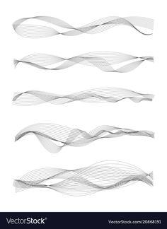 Music sound waves vector image on VectorStock Glass Film Design, Sound Waves, Music Waves, Sound Design, Wave Design, Waves Vector, Experimental Music, Generative Art, Line Tattoos