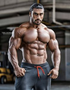 Motivations on a journey to get big and thick. An appreciation of the male physique. Mens Fitness, Fitness Tips, Fitness Motivation, Body Fitness, Indian Bodybuilder, Bodybuilding Pictures, Big Muscles, Muscular Men, Shoulder Workout