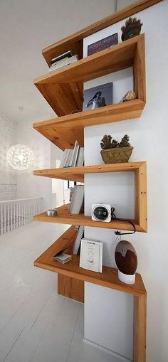 wood corner shelf ideas 28
