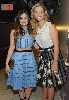 Lucy Hail and Sasha Pierce