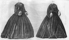 Civil War Era Clothing: Civil War Era Ladies' Dresses - March 1863 Godey's Lady's Book