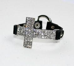 Crystal Cross Bracelet - Black ... from 'luckyyouluckyme' on Lilyshop for $38.00