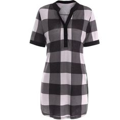 Plaid Plus Size Tunic Top (27 CAD) ❤ liked on Polyvore featuring tops, tunics, tartan top, women's plus size tops, plus size tops, womens plus tops and plus size tunics