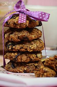 Koskacukor: Aszalt szilvás zabsüti Crinkles, Biscotti, Almond, Cereal, Low Carb, Favorite Recipes, Sweets, Diet, Snacks