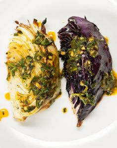 Grilled Cabbage With Mango Lime Dressing