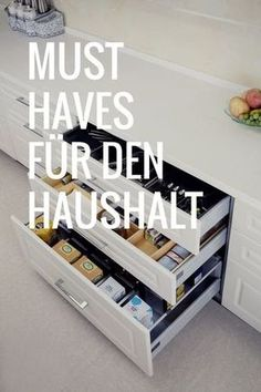 Die besten Ordnungs-helfer – Die Hausmutter You have to have these things. The best order helpers. Organisation Hacks, Household Organization, Kitchen Cabinet Organization, Diy Storage, Kitchen Organization, Kitchen Cabinets, Paint Your House, Diy Home Decor Projects, Decor Ideas