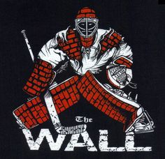 The WALL Hockey Goalie T Shirt ADULT size XXL Special 2 color limited edition #Gildan #BasicTee
