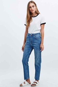 BDG Girlfriend Jeans + Birkenstocks